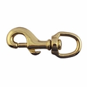 "buy discount  Bolt Snap / Round Swivel Eye -- Brass 3 1/4"" Long"