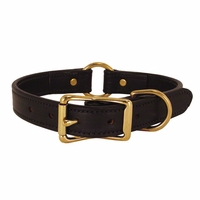 buy discount  CLEARANCE -- BLACK 1 in. K-9 Komfort Deluxe Leather Center Ring Collar