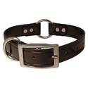 buy discount  CLEARANCE -- BLACK 1 in. K-9 Komfort TransFlex 2-Groove Center Ring Dog Collar