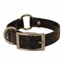 buy discount  CLEARANCE -- BLACK 3/4 in. K-9 Komfort TransFlex 2-Groove Center Ring Puppy / Small Dog Collar -- 12 inch