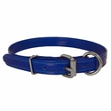buy discount  CLEARANCE -- BLUE 3/4 in. K-9 Komfort TransFlex 2-Groove D-End Puppy / Small Dog Collar