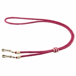 CLEARANCE -- K9 Komfort Kangaroo Leather Double Lanyard -- Solid Colors
