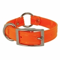 buy discount  CLEARANCE -- ORANGE 3/4 in. K-9 Komfort TransFlex 2-Groove Center Ring Puppy / Small Dog Collar -- 12 inch