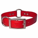 buy discount  CLEARANCE -- RED 1 in. K-9 Komfort TransFlex 2-Groove Center Ring Dog Collar