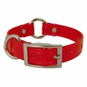 buy discount  CLEARANCE -- RED 3/4 in. K-9 Komfort TransFlex 2-Groove Center Ring Puppy / Small Dog Collar -- 12 inch