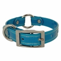 buy discount  CLEARANCE -- SKY BLUE 3/4 in. K-9 Komfort TransFlex 2-Groove Center Ring Puppy / Small Dog Collar -- 12 inch
