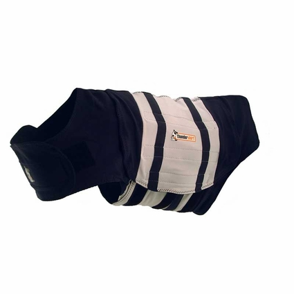 CLEARANCE -- XX-SMALL ThunderShirt Calming / Anti-Anxiety Vest for Dogs -- Rugby Blue