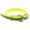 buy discount  CLEARANCE -- YELLOW 1 in. K-9 Komfort Beaded Reflective Dee-End Dog Collar