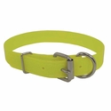 buy discount  CLEARANCE -- YELLOW 1 in. K-9 Komfort TransFlex 2-Groove D-end Dog Collar