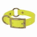 buy discount  CLEARANCE -- YELLOW 3/4 in. K-9 Komfort TransFlex 2-Groove Center Ring Puppy / Small Dog Collar -- 12 inch