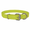 buy discount  CLEARANCE -- YELLOW 3/4 in. K-9 Komfort TransFlex 2-Groove D-End Puppy / Small Dog Collar