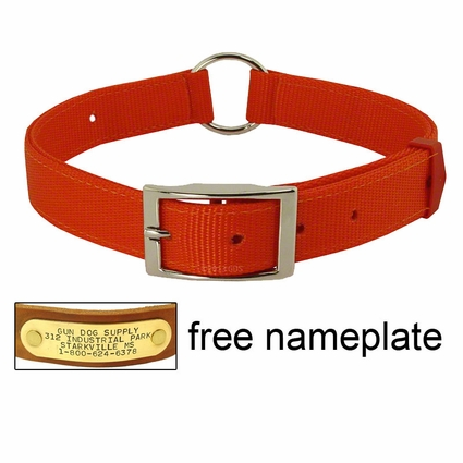 Field-Grade Treated Nylon Center-Ring Safety Dog Collar #1648