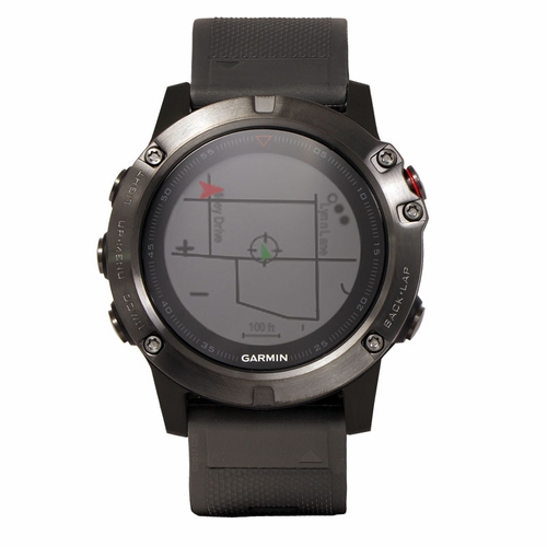 Garmin Fenix 5X Sapphire -- Gray with Black Band