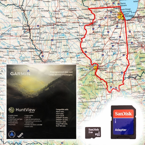 Garmin HuntView Map Card - Illinois