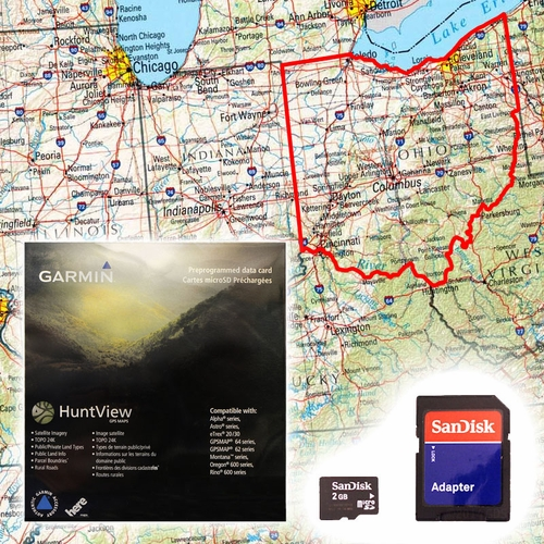 Garmin HuntView Map Card - Ohio