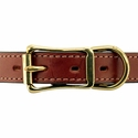 buy discount  Hunt Dog Leather Center-Ring Collar Front of Buckle Detail