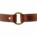 buy discount  Hunt Dog Leather Center-Ring Collar Outside Center Ring Detail