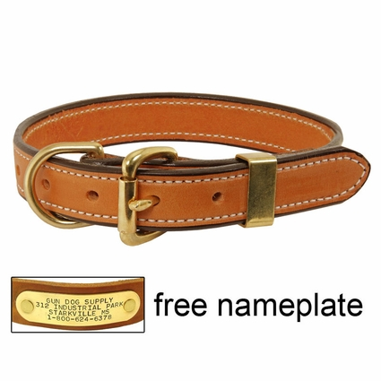 K-9 Komfort 1 in. Deluxe Leather D-end Collar