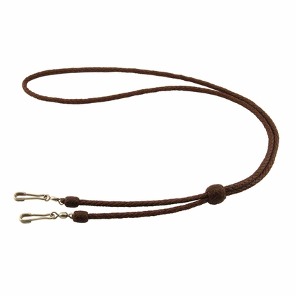 K9 Komfort Kangaroo Leather Double Lanyard -- Solid Colors