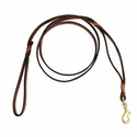 buy discount  K-9 Komfort 6 ft. Leather Double Handle Lead with Woven Details