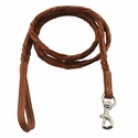 buy discount  K-9 Komfort 5 ft. Woven Leather Lead -- 1/2""