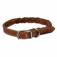 buy discount  K-9 Komfort 3/4 in. Woven Leather Dog Collar