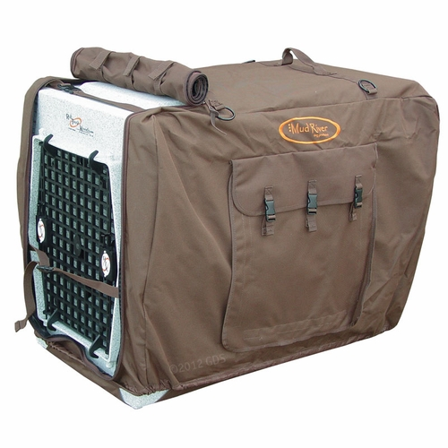 Large Brown Bedford Uninsulated Kennel Cover By Mud River