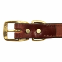 buy discount  Leather Dog Collar Buckle Inside Detail