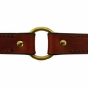 buy discount  Leather Dog Collar Outside Center Ring Detail