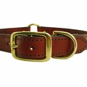 buy discount  Leather Dog Collar Front of Buckle Detail