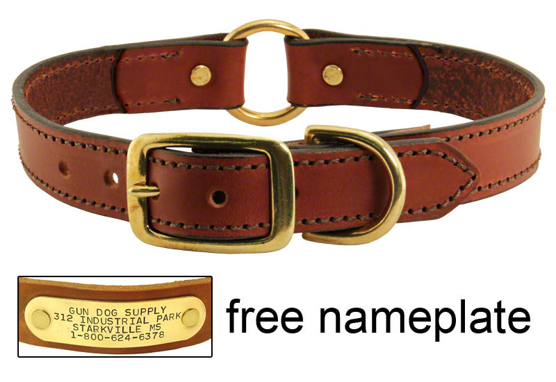 dog collar yellow leather