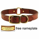 buy discount  Leather Dog Collar with Name Plate