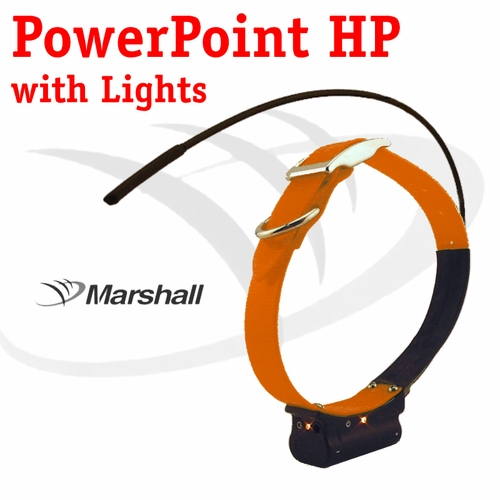 CLEARANCE SALE -- Marshall Radio Telemetry PowerPoint HP Tracking Additional Collar / Extra Transmitter with Lights - ORANGE
