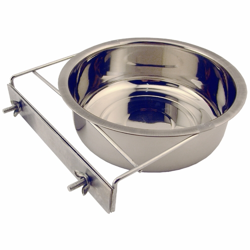 Medium Stainless Steel Kennel Cup With Bolt Clamp