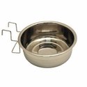 buy discount  Medium Stainless Steel Kennel Cup with Hanger -- approx 60 oz.