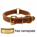 buy discount  Mud River High Prairie Leather Center Ring Dog Collar