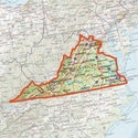 buy discount  ONXMAPS Virginia PLAT Topo Map - Micro SD