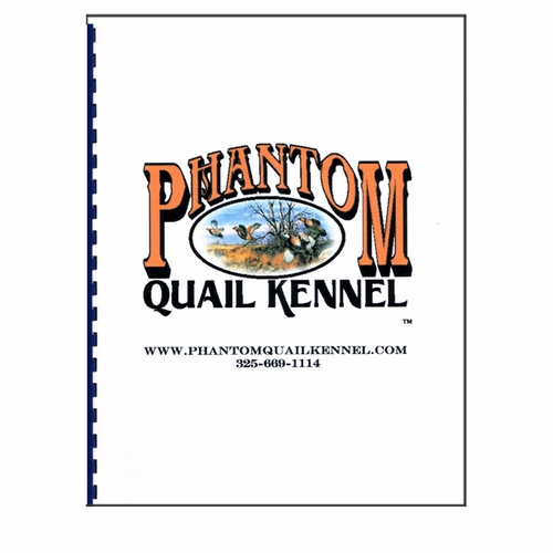 Phantom quail kennel building plans book only 29 95