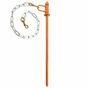buy discount  PRT Orange Hammertime Tie Out Stake with 2 ft. Chain