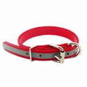 buy discount  CLEARANCE -- RED 1 in. K-9 Komfort Beaded Reflective Dee-End Dog Collar