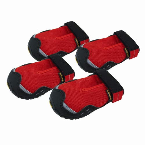 Red Bark'n Boots Grip Trex Dog Boots by Ruff Wear -- Set of 4