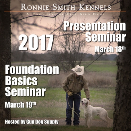 Ronnie Smith Seminar Bundle: Presentation + Foundation Basics -- March 18-19, 2017