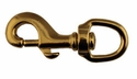 buy discount  Bolt Snap with Round Swivel Eye -- Brass 5/8 in.