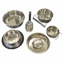 buy  Steel Dog Food Bowls, Water Bowls, and Food Pans