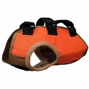 buy discount  TurtleSkin® Snake Armor Orange Dog Vest -- Broad Chest