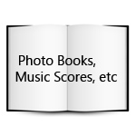 Photo Books, Music Scores, Collectibles, etc.