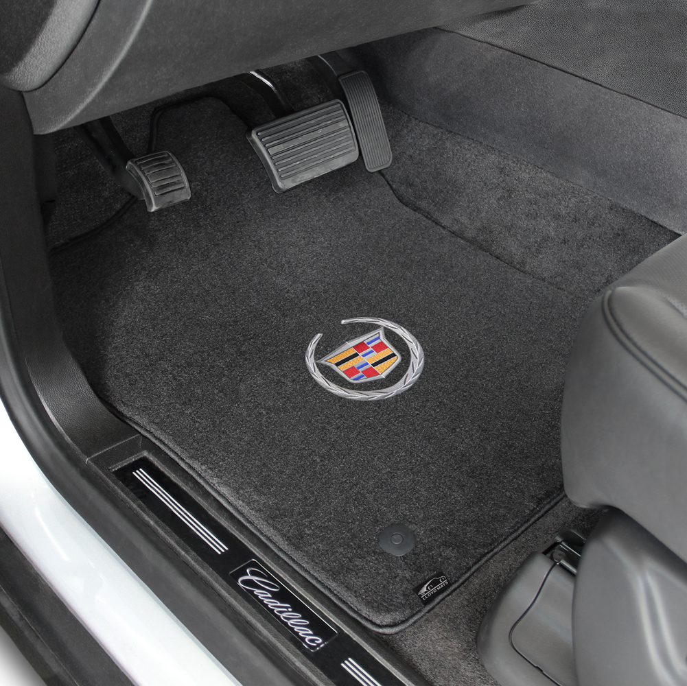 Floor mats in velour - 2011 2015 Cadillac Cts V Coupe Cadillac Logo Velourtex Front And Back Seat Floor Mats Ebony By Lloyd Mats