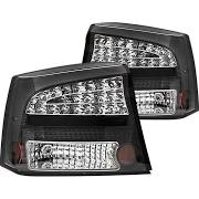 2009-2010 Dodge Charger Bermuda Black LED Tail Lights (Pair) by IPCW