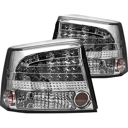 2009-2010 Dodge Charger Platinum Smoke LED Tail Lights (Pair)  by IPCW