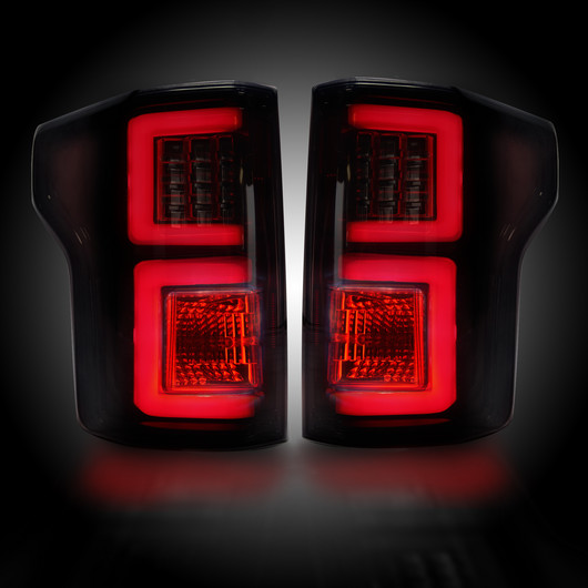 recon led tail lights for ford f 150 2015 2017 ford f 150 smoked recon led. Black Bedroom Furniture Sets. Home Design Ideas